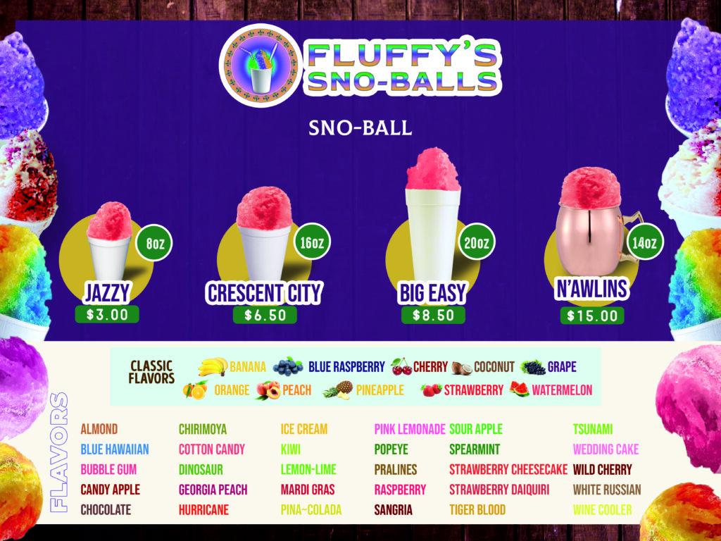 Fluffys Sno Balls Flavors